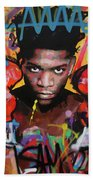 Jean Michel Basquiat Beach Towel