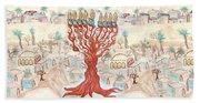 Jerusalem -watercolor On Parchment Beach Towel