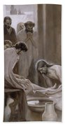 Jesus Washing The Feet Of His Disciples Beach Towel