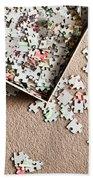 Jigsaw Puzzle Beach Towel