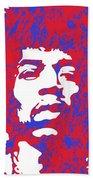 Jimi Hendrix Beach Towel