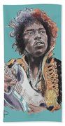 Jimi Hendrix 1 Beach Towel