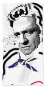 Johnny Cash Man In White Literary Homage Old Tucson Arizona 1971-2008 Beach Towel