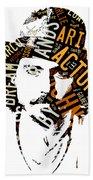 Johnny Depp Movie Titles Beach Towel