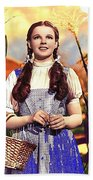 Judy Garland As Dorothy In The Wizard Of Oz Eric Carpenter Photo 1938-2014 Beach Sheet