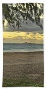 Kaohikapu Island Sunrise Beach Towel