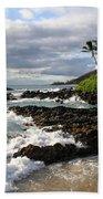 Ke Lei Mai La O Paako Oneloa Puu Olai Makena Maui Hawaii Beach Towel by Sharon Mau