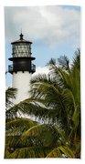 Key Biscayne Lighthouse, Florida Beach Towel