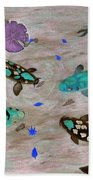 Koi Fish Feng Shui Beach Towel