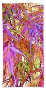 Lacy Maple Leaves Beach Towel