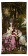 Lady Elizabeth Delme And Her Children Beach Towel