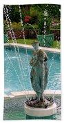 Lady In Fountain Beach Towel