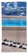 Lake Miscanti In Chile Beach Towel