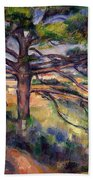 Large Pine And Red Earth Beach Towel