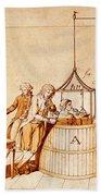 Lavoisiers Respiration Experiments Beach Towel