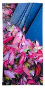 Leaves Slate Beach Towel