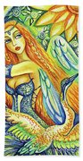 Fairy Leda And The Swan Beach Towel