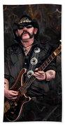 Lemmy Kilmister With Guitar Beach Towel