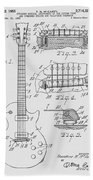 Les Paul  Guitar Patent From 1955 Beach Towel