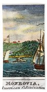 Liberia: Freed Slaves 1832 Beach Towel
