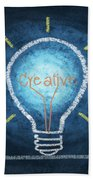 Light Bulb Design Beach Towel