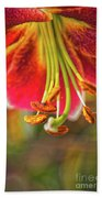 Lily Abstract Beach Towel