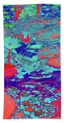 Lily Pads And Koi 24b Beach Towel