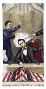 Lincoln Assassination Beach Towel
