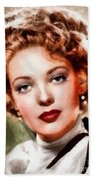 Linda Darnell, Vintage Hollywood Actress Beach Towel