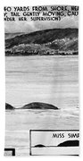 Loch Ness Monster, 1934 Beach Towel