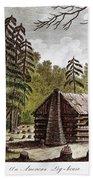 Log Cabin, 1826 Beach Towel