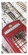 London Telephone 3b Beach Towel