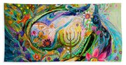 Longing For Chagall Beach Sheet