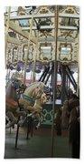 Looff Carousel Santa Cruz Boardwalk Beach Towel