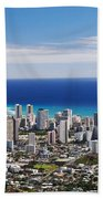 Lookout View Of Honolulu Beach Towel