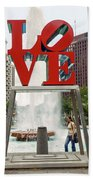 Love Sculpture Beach Towel