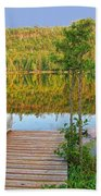 Lovely Lake Beach Towel