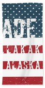 Made In Allakaket, Alaska Beach Towel