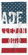 Made In Alledonia, Ohio Beach Towel