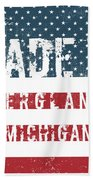 Made In Bergland, Michigan Beach Towel