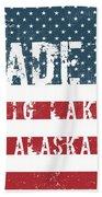 Made In Big Lake, Alaska Beach Towel