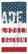 Made In Blodgett, Oregon Beach Towel