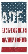 Made In Cannon Afb, New Mexico Beach Towel