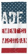 Made In Cement City, Michigan Beach Towel