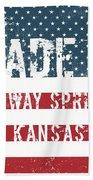 Made In Conway Springs, Kansas Beach Towel