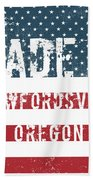 Made In Crawfordsville, Oregon Beach Towel