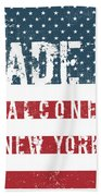 Made In Falconer, New York Beach Towel