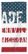Made In Fennville, Michigan Beach Towel