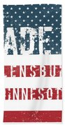 Made In Flensburg, Minnesota Beach Towel