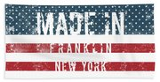 Made In Franklin, New York Beach Towel